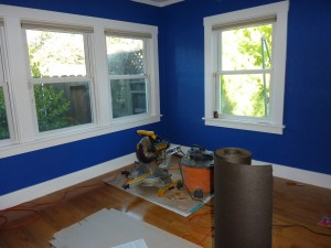 Blue Room Hardwood install