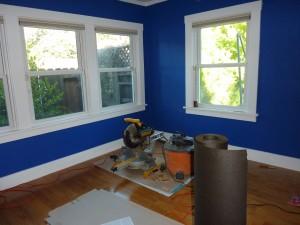 Blue Room Hardwood install